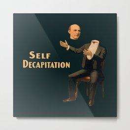 Self Decapitation - Vintage Collage Metal Print