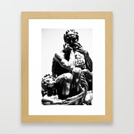 NO Mercy for the Weak Framed Art Print