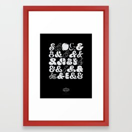 25 Ampersands Framed Art Print