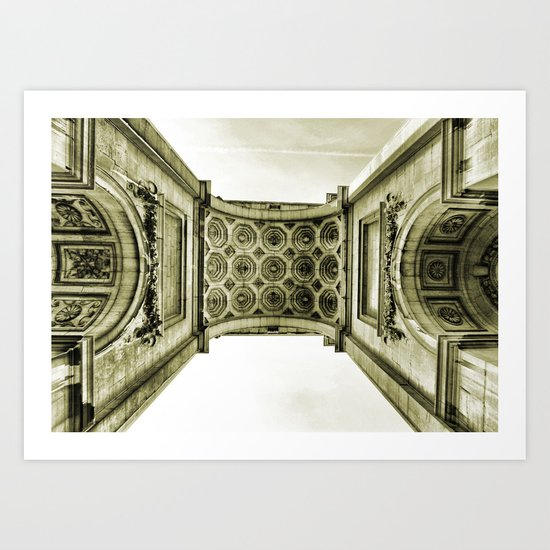 Arch du Cinquantenaire Art Print
