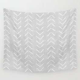 Mudcloth Big Arrows in Grey Wall Tapestry