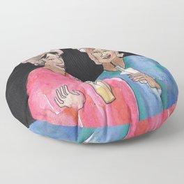 Sipping Salon Gossip Floor Pillow