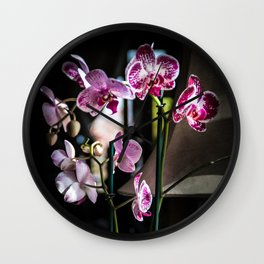 Phalaenopsis Orchid Wall Clock