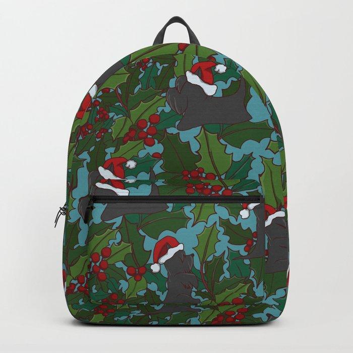 Christmas Dog Pattern Backpack