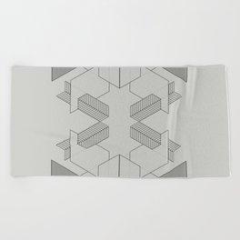 lines 1 Beach Towel