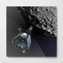 939. Ames spacecraft is a small 'secondary payload' spacecraft that will travel with Lunar Reconnaissance Obriter (LRO) satellite to the moon on the same rocket Metal Print