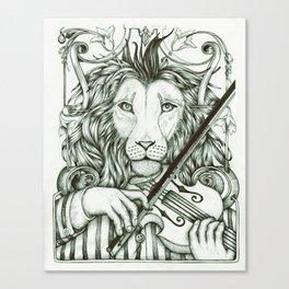 Lionviol Canvas Print