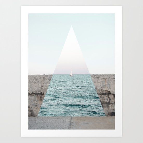 Navigating to the truth Art Print