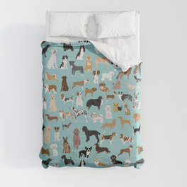 Dogs pattern print must have gifts for dog person mint dog breeds Duvet Cover