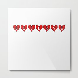 Goodbye Hearts Metal Print