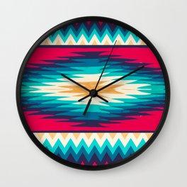 SURF GIRL CHEVRON Wall Clock