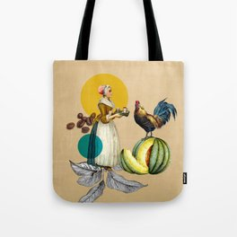 Coffee Quote Print Tote Bag
