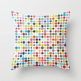 Tangled Up In Colour Throw Pillow