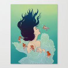 Underwater Lady Canvas Print