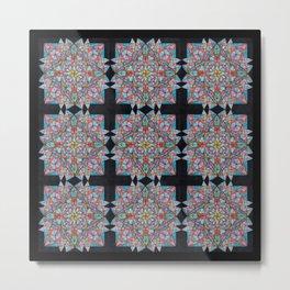 Different kind of a Lotusflower Pattern Metal Print