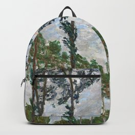 12,000pixel-500dpi - Claude Monet - Wind Effect, Series of The Poplars - Digital Remastered Edition Backpack