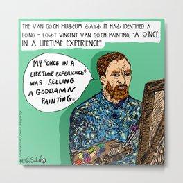 """Saturday Post"" Van Gogh cartoon Metal Print"