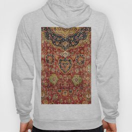 Indian Boho II // 16th Century Distressed Red Green Blue Flowery Colorful Ornate Rug Pattern Hoody