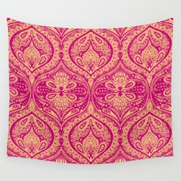 Simple Ogee Pink Wall Tapestry