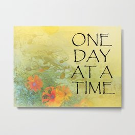 One Day at a Time (ODAT) Lilacs & Poppies Metal Print