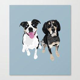 Jackson and Tracker Canvas Print