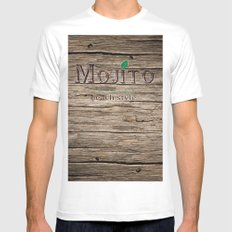mojito beach style classic MEDIUM Mens Fitted Tee White
