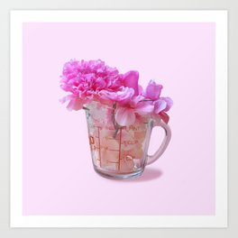 Cup of Flower Art Print