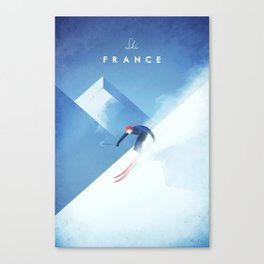Ski France Canvas Print