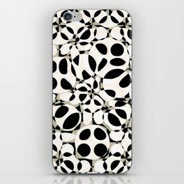 black and white circles in squares iPhone Skin