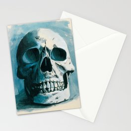 Skin E. Bones in Blue Stationery Cards