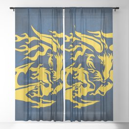 Goat with Anchor Sheer Curtain