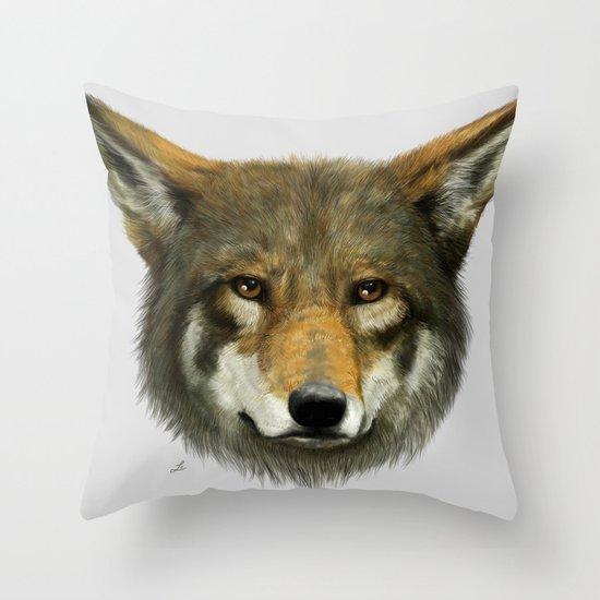 Wolf face Throw Pillow