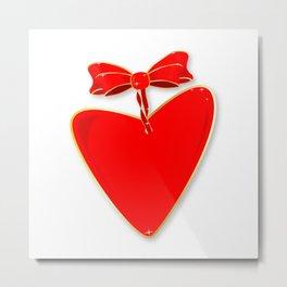 Ribbon Heart Metal Print