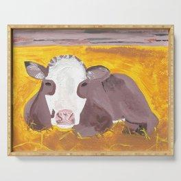 A Heifer Calf Named Darla Serving Tray