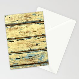 Yellow Planks, Wood Texture Decor Stationery Cards