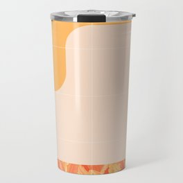 Mid-Century Tropical Orange Way #society6 #tropical Travel Mug