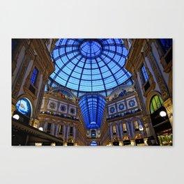 Shoping in Milan Canvas Print
