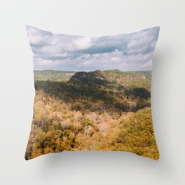 A Shadow Across the View, Red River Gorge, Kentucky Throw Pillow