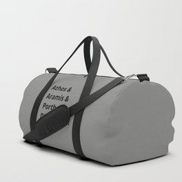 The Three Musketeers Names I Duffle Bag