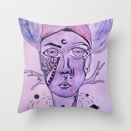 The King of The Purple Galaxy Throw Pillow