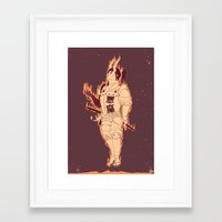 demon Framed Art Prints featuring DEMON by andbloom