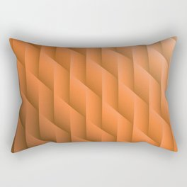 Gradient Orange Diamonds Geometric Shapes Rectangular Pillow