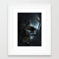 dishonored Framed Art Prints featuring Corvo´s Mask  Dishonored by Alba Palacio