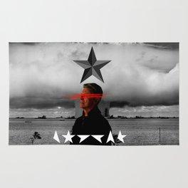 Bowie Black Star Concept Album Cover Rug