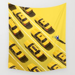 New York Cabs Wall Tapestry