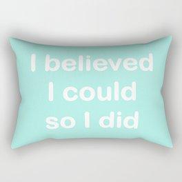 I believed - seafoam Rectangular Pillow