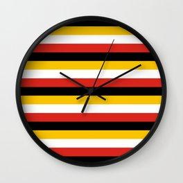 maryland flag stripes Wall Clock