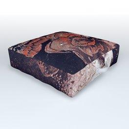 Obey Me: Blood (graffiti flower woman profile) Outdoor Floor Cushion