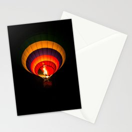 Night hot air balloon adventure Stationery Cards