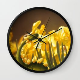 The Daffodil nommer Wall Clock